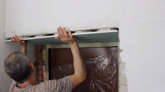 Откосы из гипсокартона своими руками двери входной