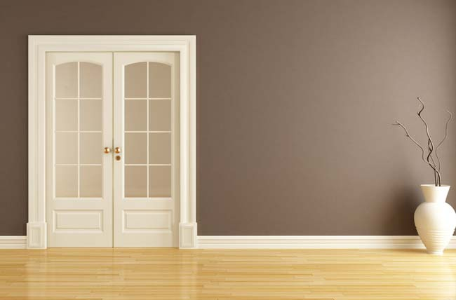 Двойные распашные двери