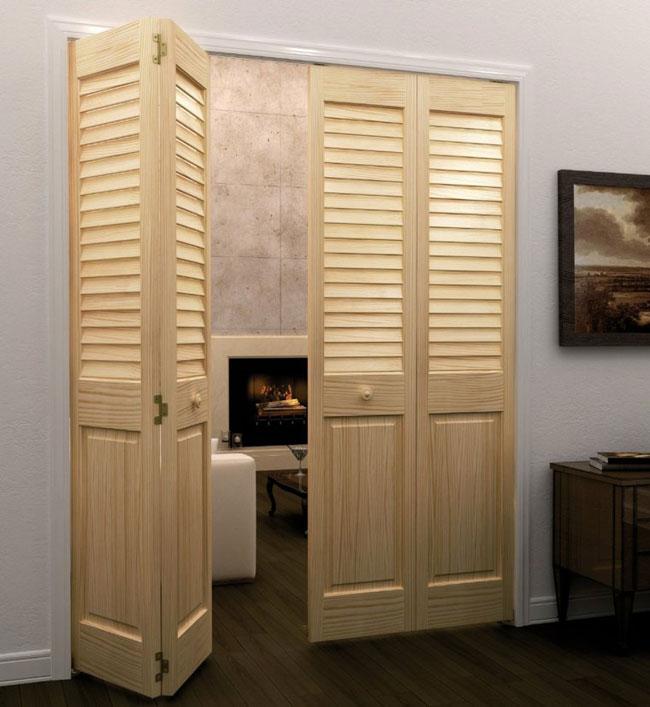 двери межкомнатные жалюзийные деревянные и металлические